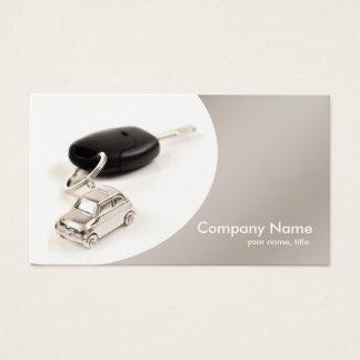 シンプルな灰色のカーブのレンタカーの名刺 名刺