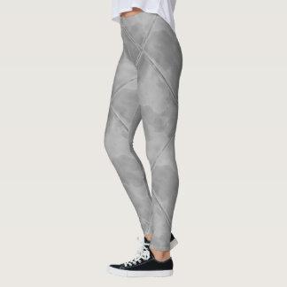 シンプルな灰色のチェック模様のセラミックタイル レギンス