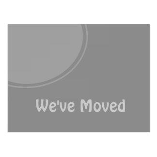 シンプルな灰色の移動発表 ポストカード