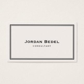 シンプルな白人のクラシックなプロフェッショナル 名刺