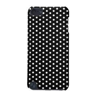シンプルな白黒水玉模様の基本的なパターン iPod TOUCH 5G ケース