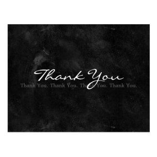 シンプルな白黒黒板ありがとう ポストカード