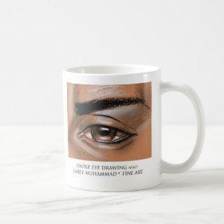 シンプルな目のスケッチの男性 コーヒーマグカップ