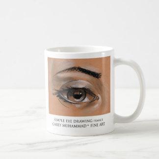 シンプルな目の引く女性 コーヒーマグカップ