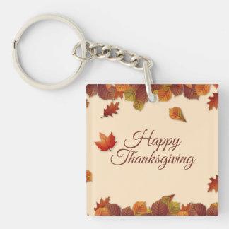 シンプルな紅葉の感謝祭| Keychain キーホルダー