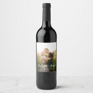 シンプルな結婚式の写真 ワインラベル
