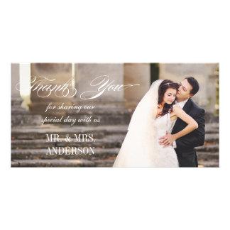 シンプルな結婚式は感謝していしています カード