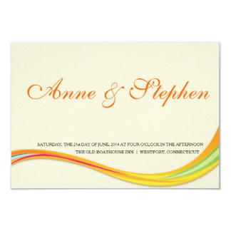 シンプルな結婚式招待状の柔らかいoranye カード