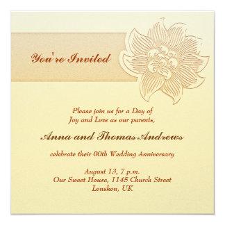 シンプルな結婚記念日の招待 カード