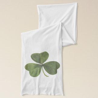 シンプルな緑のシャムロックの植物 スカーフ