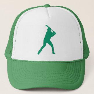 シンプルな緑の野球選手の帽子 キャップ