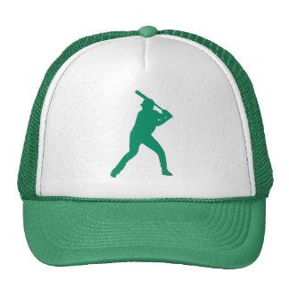 シンプルな緑の野球選手の帽子 メッシュハット