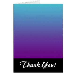 シンプルな背景の勾配の青緑の紫色 カード