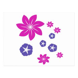 シンプルな花の組合せ ポストカード