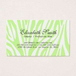 シンプルな薄緑のシマウマのモダンな名刺 名刺