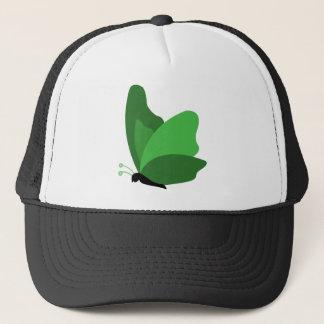 シンプルな蝶-緑 キャップ