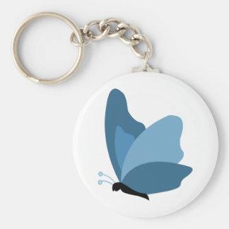 シンプルな蝶-青 キーホルダー