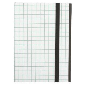 シンプルな設計の格子縞正方形パターン- iPadの空気箱 iPad Airケース