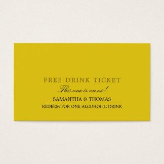 シンプルな設計の自由な飲み物のチケット 名刺