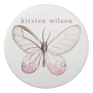 シンプルな設計の赤面の蝶名前入りな消す物 消しゴム