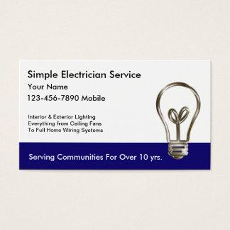 シンプルな電気技師の名刺 名刺