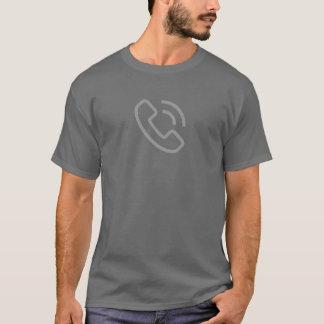 シンプルな電話リングアイコンワイシャツ Tシャツ
