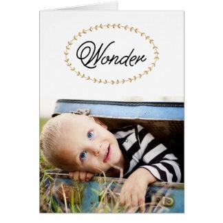 シンプルな驚異の金ゴールドのグリッターの写真の挨拶状 グリーティングカード