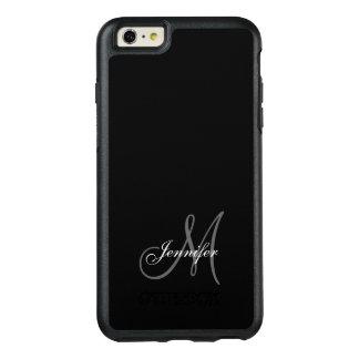 シンプルな黒い、あなたのモノグラム灰色、あなたの名前 オッターボックスiPhone 6/6S PLUSケース
