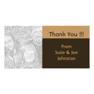 シンプルなbiegeの茶色は感謝していしています カード