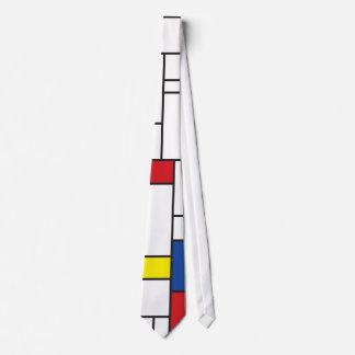 シンプルなMondrian Minimalist De Stijlの近代美術のタイ ネクタイ