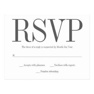 シンプルなRSVPの郵便はがき ポストカード