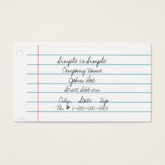 シンプルの紙 名刺