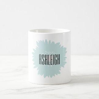 シンプルの青の花 コーヒーマグカップ