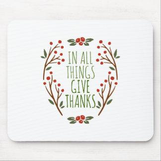 シンプルは感謝の感謝祭 のマウスパッドを与えます マウスパッド