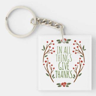 シンプルは感謝の感謝祭| Keychainを与えます キーホルダー