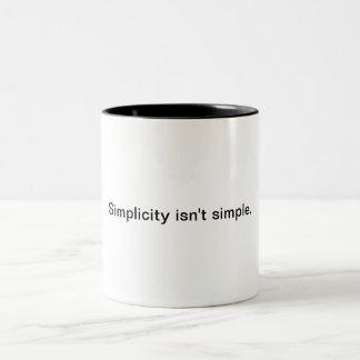 シンプルは簡単ではないです ツートーンマグカップ