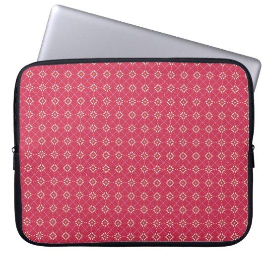 シンプル幾何学模様・ピンク ラップトップスリーブ