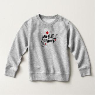 シンプル私のハートのバレンタイン のスエットシャツを所有します スウェットシャツ