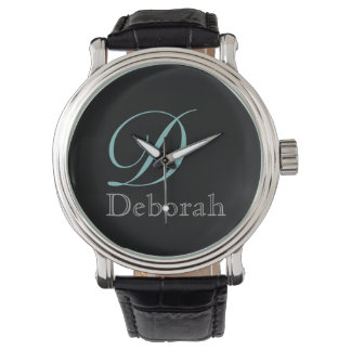 シンプル、エレガントで及びスタイリッシュなモノグラム 腕時計