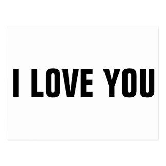 シンプル「私はYOUを愛します ポストカード
