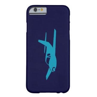 シンプル 青い 飛行機 iPhone 6 場合 スリム iPhone 6 ケース