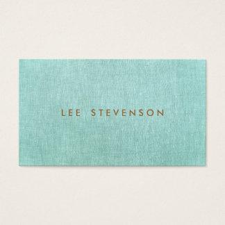 シンプル、青緑、スタイリッシュなミニマリスト スタンダード名刺