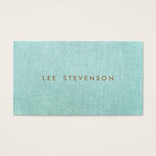シンプル、青緑、スタイリッシュなミニマリスト 名刺