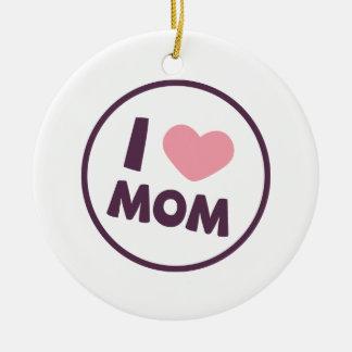 シンプルI愛お母さんの母の日 のオーナメント セラミックオーナメント
