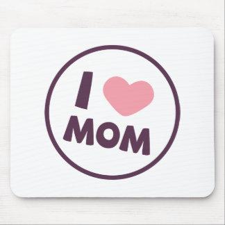 シンプルI愛お母さんの母の日 のマウスパッド マウスパッド