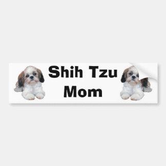 シーズー(犬)のTzuのお母さんのバンパーステッカー バンパーステッカー