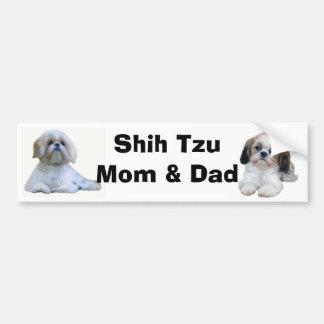 シーズー(犬)のTzuのお母さん及びパパのバンパーステッカー バンパーステッカー