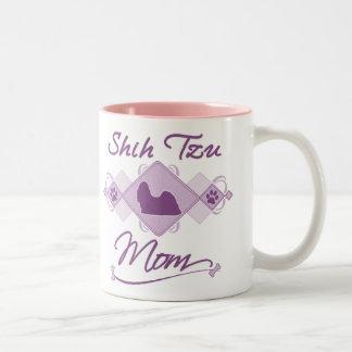 シーズー(犬)のTzuのお母さん ツートーンマグカップ