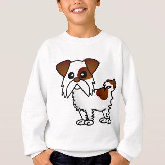 シーズー(犬)のTzuのかわいい漫画ブラウンおよび白 スウェットシャツ