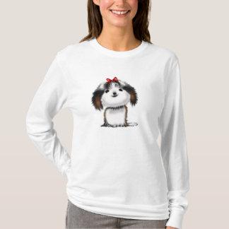 シーズー(犬)のTzuのかわいく図解入りの、写真付きのな子犬 Tシャツ